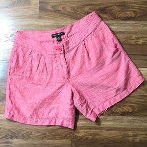 Coral Tommy Bahama 100% Linen Shorts 6